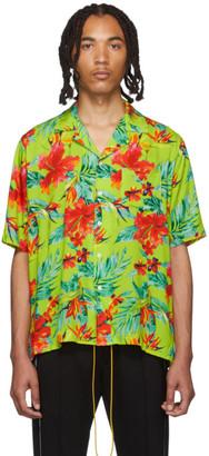 Rhude Green Hawaiian Shirt