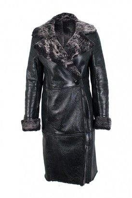 Loewe Black Leather Trench Coat for Women