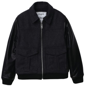 Zadig & Voltaire Back Logo Bomber Jacket (6-16 Years)