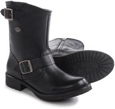 "Harley-Davidson Halsey Harness Motorcycle Boots - Round Toe, 9"" (For Women)"
