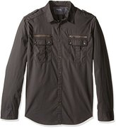 Calvin Klein Jeans Men's Modern Military Long Sleeve Button Down Shirt