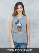 Junk Food Clothing Mickey Mouse Raglan Tank-steel-m