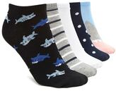 Forever 21 Shark Print Ankle Sock - 5 Pack