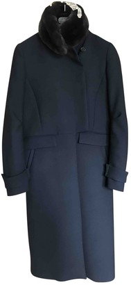 Cerruti Blue Wool Coat for Women