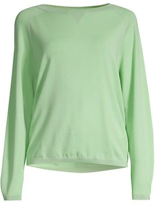 Lafayette 148 New York Saddle Lurex Trim Sweater