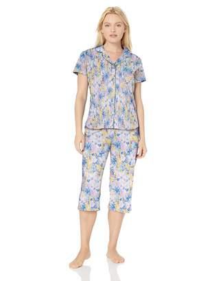 Karen Neuburger Women's Plus Size Short-Sleeve Pajama Set PJ with Moisture Wicking Technology