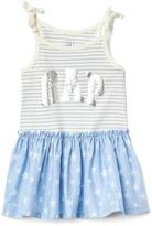 Gap Foil logo bow dress