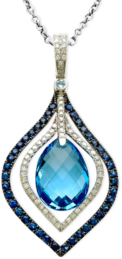 Effy Gemma by Blue Topaz (7-1/3 ct. t.w.) Sapphire Accent and Diamond Accent Pendant
