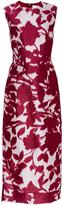 Prabal Gurung Silk Cotton Floral Shadow Print Dress