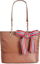 Giani Bernini Pebble Leather Chain Tote, Only at Macy's