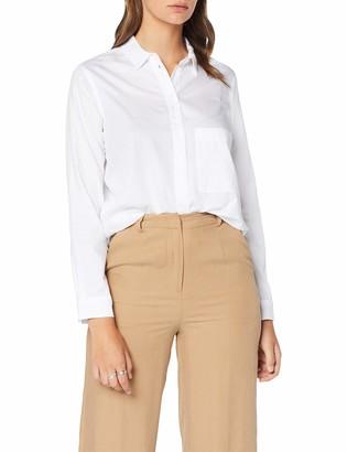 Seidensticker Women's Hemdbluse Langarm Modern Fit Uni-100% Baumwolle-Brusttasche Blouse