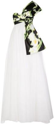 Carolina Herrera Bandeau Drape Baby Doll Gown