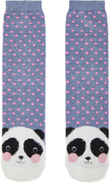 Accessorize James Fluffy Panda Face Socks