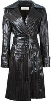 Nina Ricci stitched detail leather coat