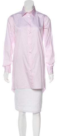 Maison Margiela Striped Button-Up Top w/ Tags