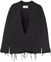 Maison Margiela Distressed Alpaca-blend Sweater - Black
