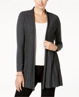 Charter Club Pleated Open-Front Cardigan, Created for Macy's