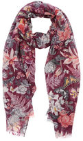 "Oasis BOTANICAL FLORAL SCARF [span class=""variation_color_heading""]- Burgundy[/span]"