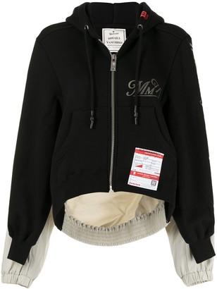 Maison Mihara Yasuhiro Oversized Two-Tone Zipped Hoodie