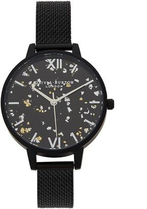 Olivia Burton Celestial Matte Black Watch
