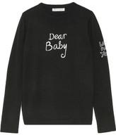 Bella Freud Dear Baby Intarsia Merino Wool Sweater - Black