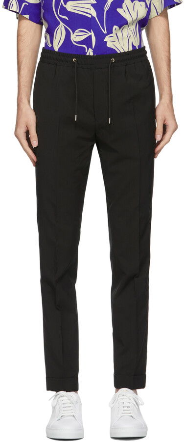 Thumbnail for your product : Paul Smith Black Wool Jogger Trousers