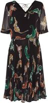 Biba Geo tiger pleated skirt dress