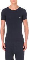 Emporio Armani Logo-print Stretch-cotton T-shirt