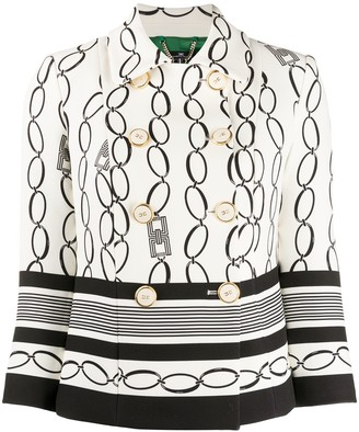 Elisabetta Franchi Chain Print Jacket