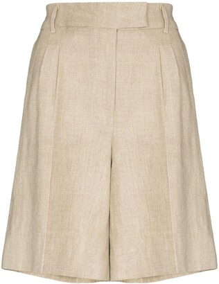 REMAIN Kit linen Bermuda shorts