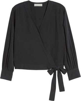 Everlane Silk Wrap Top