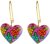 Vessel Heart Wood Earrings