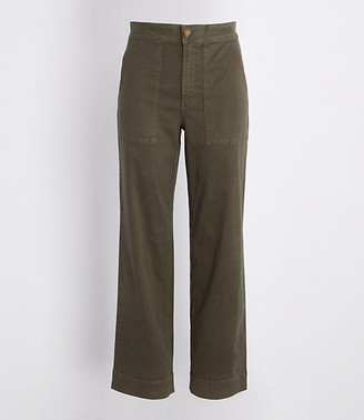 LOFT Lou & Grey Brushed Twill High Waist Wide Leg Pants