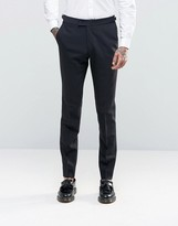 Hart Hollywood By Nick Hart Skinny Suit Trousers In Flannel