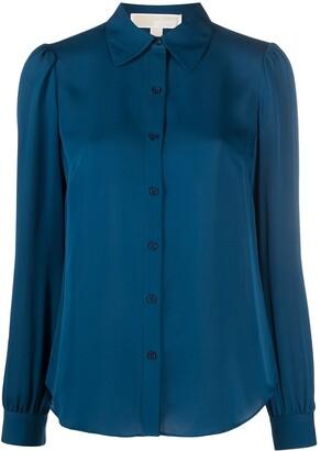 MICHAEL Michael Kors Long-Sleeve Silk Shirt