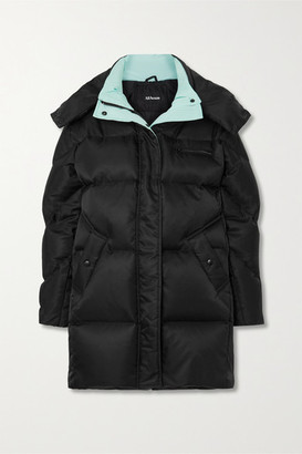All Access Anthem Hooded Quilted Shell Down Parka - Black