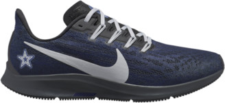 Nike Pegasus 36 NFL Running Shoes - Dallas Cowboys - College Navy Blue / Wolf Grey Black