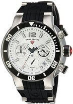 Swiss Legend Men's 'Sharkarma' Quartz Stainless Steel and Silicone Casual Watch, Color:Black (Model: 14084SM-02S-BB)
