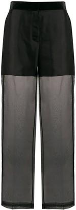 Helmut Lang high rise sheer trousers
