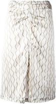 Isabel Marant chevron front slit skirt - women - Silk/Cotton - 38