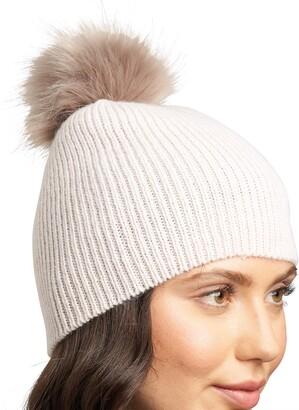 Lemon Women's Fluffy Rib Hat with Pom