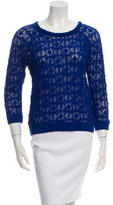 Isabel Marant Three-Quarter Sleeve Open Knit Top