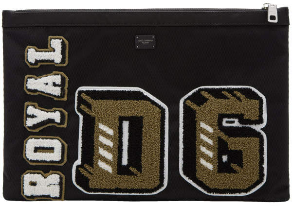 Dolce & Gabbana Black Royal Pouch