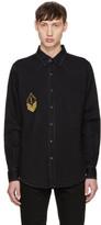 Saint Laurent Black Denim Army Patch Shirt