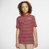 Nike Boys Striped Golf Polo Dri-FIT Victory