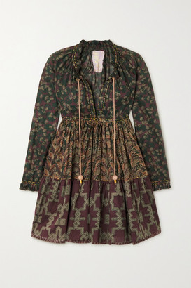 Yvonne S Cotton-voile Mini Dress - Black