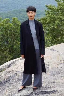 Mansur Gavriel Cashmere Narrow Buttonless Coat - Black
