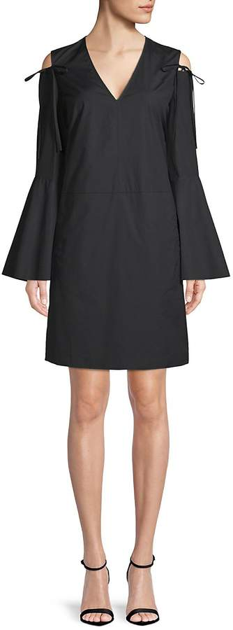 Derek Lam Women's Bell-Sleeve Cold-Shoulder Dress