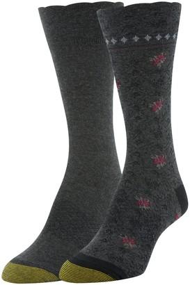 Gold Toe Women's Little Ruffle Crew Socks 2 Pairs