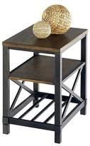 Progressive Oak Hill End Table Chairside - Wire Brushed Oak Furniture